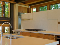 Concrete Counter and Backsplash